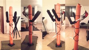 The 6DKF's PVC wooden dummy