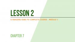 Lesson 2 - Learn self-defense: prevent dangers