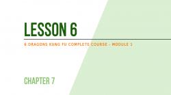 Lesson 6 - Self-defense: how to escape