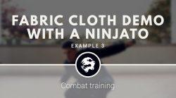 6 Dragons Kung Fu's Fabric Cloth training with a Ninjato
