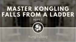 Master Kongling falls from a ladder